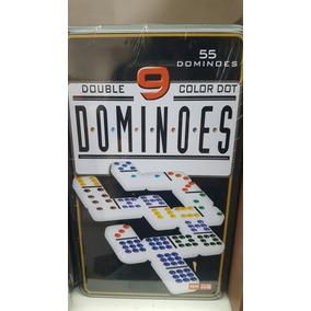 July Toys - Domino En Caja De Metal 55 Fichas Colores