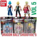 Bandai Dragonball Shodo Vol 5 Vegito, Bardock Y Broly.