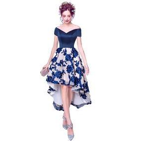 Vestido De Madrinha Azul Mullet 34 36 38 40 42 44 46 Va00234
