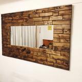 Espejo De Madera Rustico 140x80 Aprox