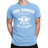 Remera Bull Terrier Hf ® Celeste Original 100% Serigrafia