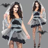 Fantasia Feminina Adulto Noiva Cadáver Halloween