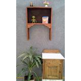 Repisa Estanteria Antigua Art Deco Madera Mueble Living