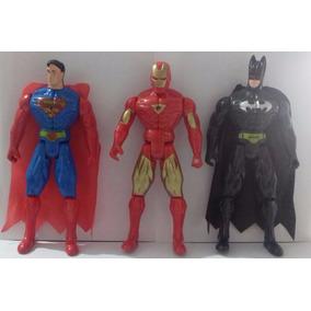 Bonecos Super-heróis Diversos 23cm Marvel Dc