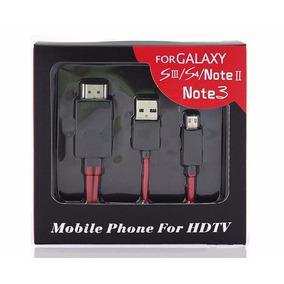 Cable Mhl - Adaptador Micro Usb A Hdmi Para Samsung