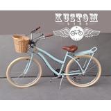 Bicicleta Retro Feminina Cesto Vime Bike Vintage Inspired