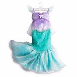 Fantasia Vestido Ariel Pequena Sereia Disney Original