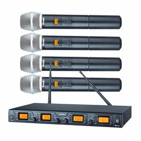 Sistema Sem Fio Quadruplo Bastão Staner Srw48q Profissional