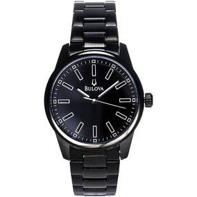 Bulova Blacky Casual Watch Negro Pvd 43mm 98a135 Diego Vez