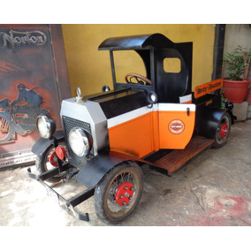 Hermoso Auto Chata Juguete Ford T Harley No A Pedal Miralo!!