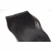 Mega Hair Fita Adesiva Nanopele Castanho Liso 60cm - 2 Telas