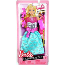 Barbie Fashionistas - Rosa / Plata / Vestido Turquesa C / R