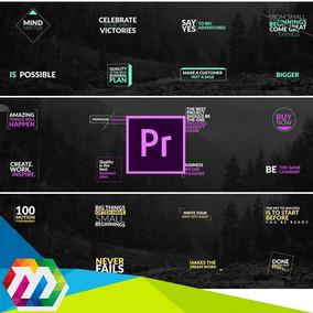 64 Projetos Editáveis Adobe Premiere Pro Textos Animadas