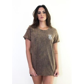 Camiseta Vestido Feminina T-shirt Soul Estilo Rock