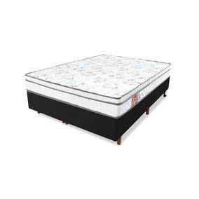 Conjunto Colchão Espuma D45 + Base Box Queen 158x198
