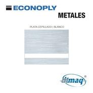 Plancha Placa Laserable Econoply Plata Cepillado Blanco60x40