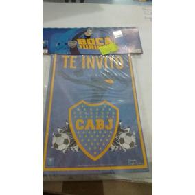 Invitaciones Cumpleaños Boca Juniors