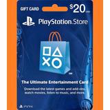 Psn Card 20 Usd - Playstation Network Card - Ps3 - Ps4