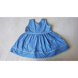 Vestido Azul C/ Bolinhas
