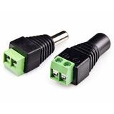 Conector Adaptador Plug Macho Y Hembra Corriente Dc 12v
