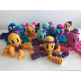 Pulpito Tejido A Crochet. Muñeco De Apego Bebés. Babyshower