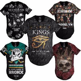 Camiseta Camisa Blusa Longline Oversized Swag Masculina Moda