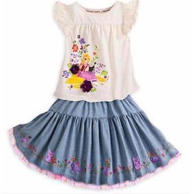 Rapunzel Conjunto Blusa + Saia Original Disney Store