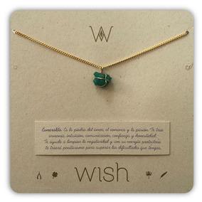 Joyas Dulcementa Wish Whclcd001o Collar Cadena Oro Esmeralda
