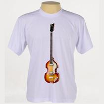 Camiseta Rock - Baixo Hofner, Paul Mccartney, Beatles