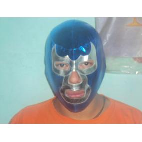 Mascara Licra Economica De Luchador Blue Demon P/adulto