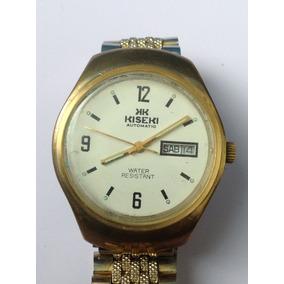 Antiguo Reloj Kiseki Automático. Doble Fechador, Chapa. 80