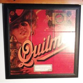 Cartel Publicidad De Quilmes Moderno Para Bar Simil Azulejos