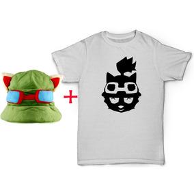 Camiseta Teemo + Chapéu Do Teemo Touca League Of Legends