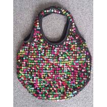 Cartera. Crochet Y Lentejuelas De Colores. Pailette. Divina!