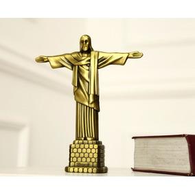 Estátua Escultura Colecionador Cobre Cristo Redentor Rio
