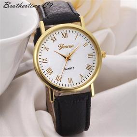 Elegante Reloj Analogico Dorado Unisex Envio Gratis