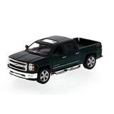 2014 Camión De Chevy Silverado Pick-up, Verde - Kinsmart 538