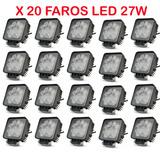 Caja X 20 Faros 12v 24v 27w Led P/ Camiones 4x4 Camionetas