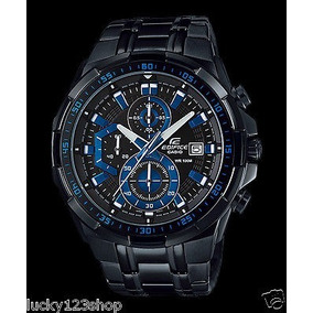 Casio Edifice Black Blue Masculino Novo Modelo