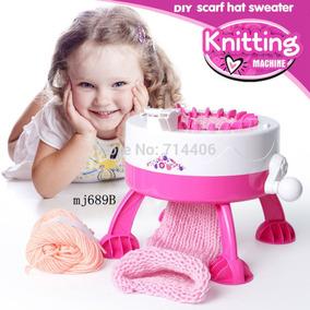 Máquina Tricô Criança E Adulto Com 2 Lãs E Acessórios +frete