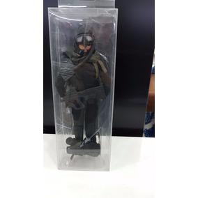 Miniatura Soldado Preto Com Armas E Acessorio Boneco Airsoft