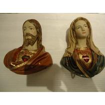 Imagem Sagrado Coração De Jesus E Maria Fino Acabamento.