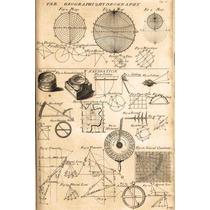 Lienzo Tela Enciclopedia 1728 Navegación Geografía 75x50 Cm