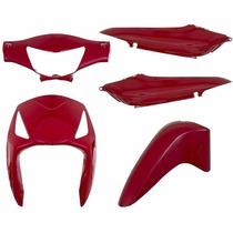 Kit Carenagem Completa Biz125 Vermelho 2006 Modelo Original