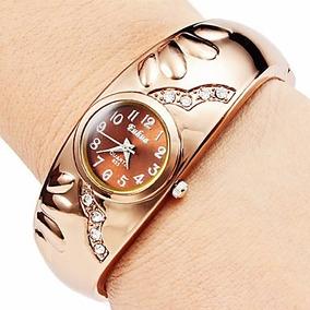 Relogio Feminino Maravilhoso Bracelete Bronze Frete Gratis