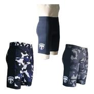 Kit 3 Bermudas Corrida Masculina Com Bolso Lateral Blue Camo