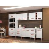 Conjunto Cozinha Completa, 4 Balcões, 4 Aéreos, Kit Fornos E