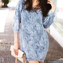 Vestido Feminino Curto Frio Inverno Lã Tricot Pronta Entrega