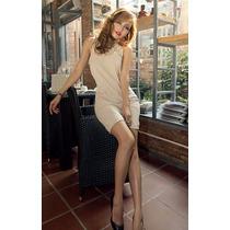 Vestido Corto Mujer Cuello Encaje Escote Espalda Sensual