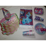 Kit Manteleria My Little Pony Combo Fiesta Infantil 49 Pcs